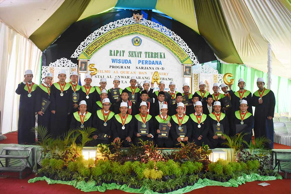 Wisuda Perdana, STAI Al-Anwar Luluskan 81 Wisudawan