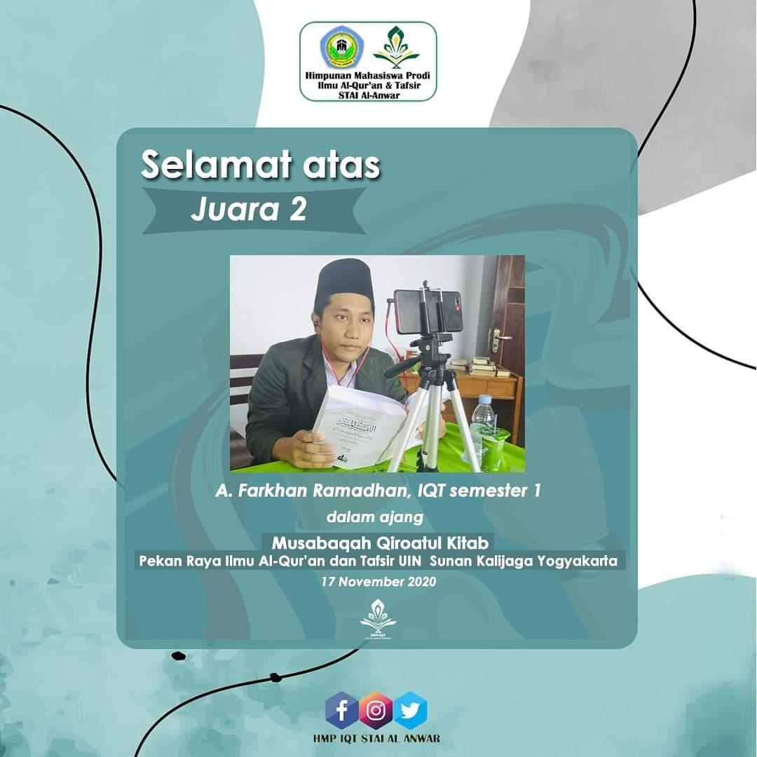 Juara 2 MQK Pekan Raya IAT UIN Sunan Kalijaga Yogyakarta