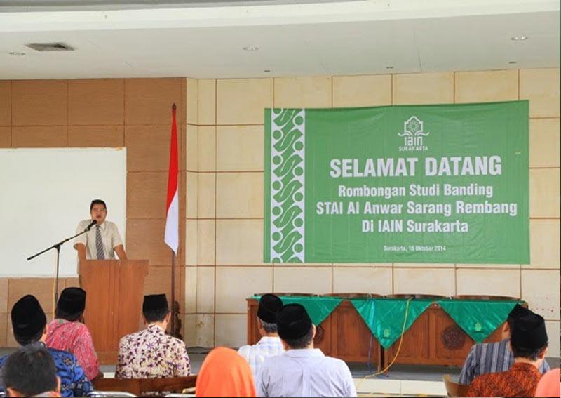 Kunjungan Rombongan STAI Al   Anwar Sarang ke IAIN Surakarta