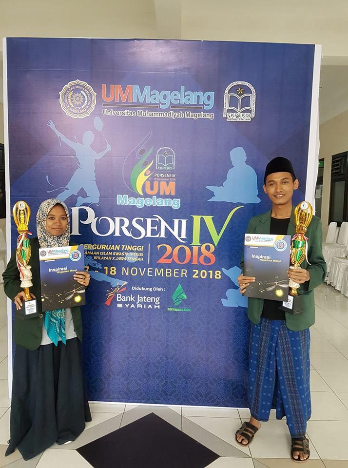 Juara I dan IIMQK FKPTKIS Jawa tengah 2018