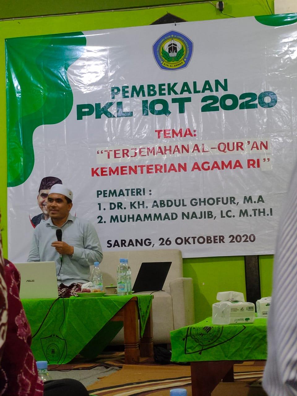 Pembekalan Praktek Kerja Lapangan IQT 2020
